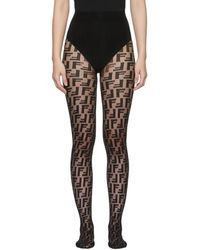 Fendi - Black Forever Tights - Lyst