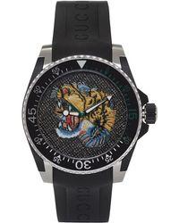 Gucci - Black Tiger Dive Watch - Lyst
