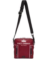 Dolce & Gabbana - Red Crown Crossbody Bag - Lyst