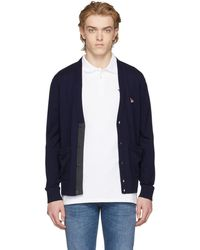 Maison Kitsuné | Navy Fox Patch Cardigan | Lyst