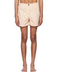 Stone Island - Pink And White Stripe Swim Shorts - Lyst