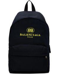 Balenciaga   Navy Bb Explorer Backpack   Lyst