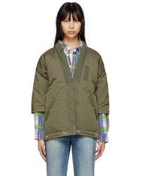 Visvim - Green Down Sanjuro Kimono Jacket - Lyst