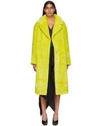 Tibi - Yellow Oversized Trench Coat - Lyst