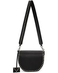 Valentino - Black Garavani Rockstud Saddle Bag - Lyst