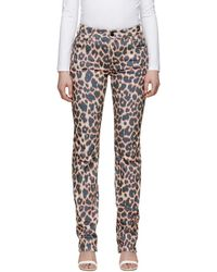 CALVIN KLEIN 205W39NYC - Off-white And Blue Panther Denim Jeans - Lyst