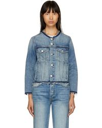 AMO - Blue Lola Denim Jacket - Lyst