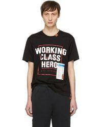 Miharayasuhiro - T-shirt noir Working Class Hero - Lyst