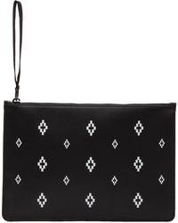 Marcelo Burlon - Black And White All Over Cross Pouch - Lyst