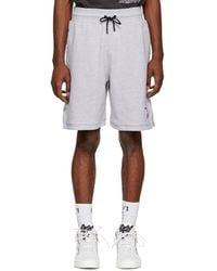 Marcelo Burlon - Grey Nba Edition Sweat Shorts - Lyst