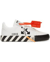 cdd447cc57d3 Off-White c o Virgil Abloh - White Striped Vulcanized Sneakers - Lyst
