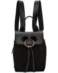 J.W.Anderson - Black Mini Suede Pierce Backpack - Lyst
