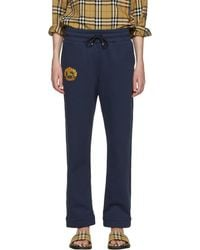 Burberry - Navy Crest Lounge Trousers - Lyst