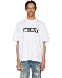Helmut Lang - White Tall Logo T-shirt - Lyst