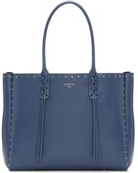 Lanvin - Blue Small Shopper Tote - Lyst