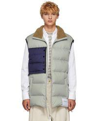 3.1 Phillip Lim - Grey Oversized Down Vest - Lyst