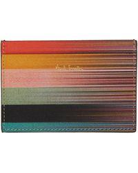 Paul Smith | Multicolor Artist Stripe Card Holder | Lyst