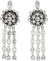 Gucci - Crystal Drop Earrings In Silver - Lyst
