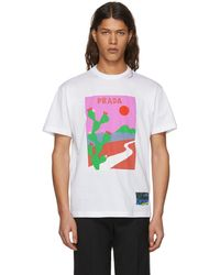 Prada | White Sun T-shirt | Lyst