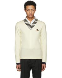 Gucci - Off-white Embroidered Insect Jumper - Lyst