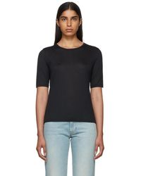 Totême  - Black Cashmere Stockholm T-shirt - Lyst