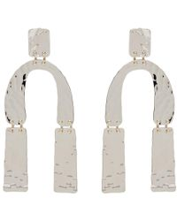 Proenza Schouler - Silver Medium Hammered Earrings - Lyst