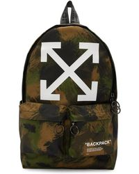 6278662b85 Off-White c/o Virgil Abloh - Green Camo Quote Backpack - Lyst