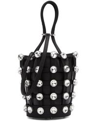 Alexander Wang - Black Mini Roxy Cage Glass Bucket Bag - Lyst