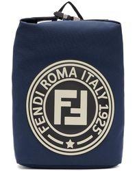 Fendi - Navy Roma Italy 1925 Backpack - Lyst