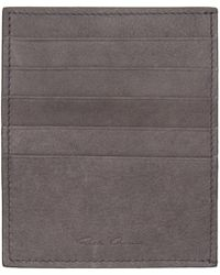 Rick Owens - Grey Card Holder - Lyst