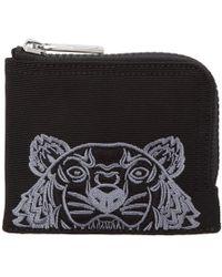 KENZO - Black Tiger Zip Around Wallet - Lyst