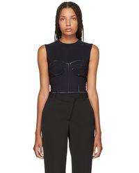 Maison Margiela - Black Dayglow Bodysuit - Lyst