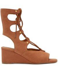 Chloé - Camel Suede Gladiator Foster Sandals - Lyst