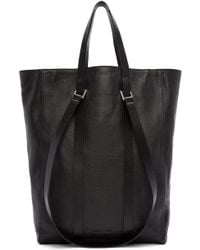 CoSTUME NATIONAL | Black Straps Leather Tote | Lyst