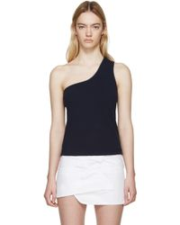 Jacquemus - Navy Single-shoulder Marcel Top - Lyst