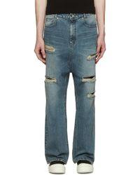 D by D - Blue Wide-leg Sarouel Jeans - Lyst