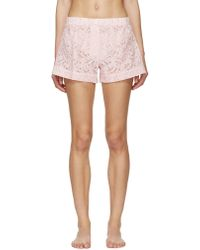Raphaëlla Riboud - Pink Lace Vasco Pyjama Shorts - Lyst