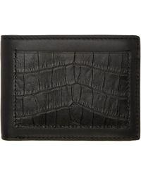Alexander Wang - Black Croc-embossed Wallet - Lyst