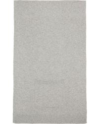 T By Alexander Wang - Grey Cashwool Patch Pocket Scarf - Lyst