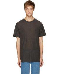 T By Alexander Wang - Grey Pilled T-shirt - Lyst