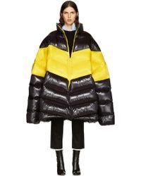 Raf Simons - Black Down Oversized Coat - Lyst