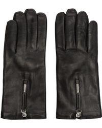 Want Les Essentiels De La Vie - Black Leather Gloves - Lyst