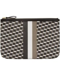 Pierre Hardy - Tricolor Perspective Cube Zip Pouch - Lyst