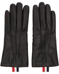 Thom Browne - Black Leather Gloves - Lyst