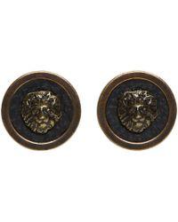 Versus - Brass Lion Stud Earrings - Lyst