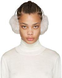 Yves Salomon - Grey Fur Earmuffs - Lyst