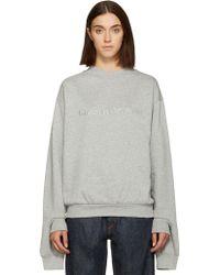 Gosha Rubchinskiy - Grey Double Cuff Logo Sweatshirt - Lyst