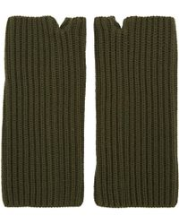 Hyke - Green Wool Wrist Warmers - Lyst