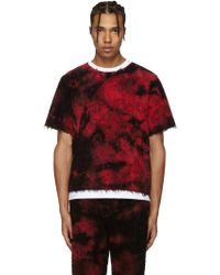Haal - Ssense Exclusive Red Sun T-shirt - Lyst