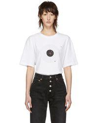 Vetements - White Target T-shirt - Lyst